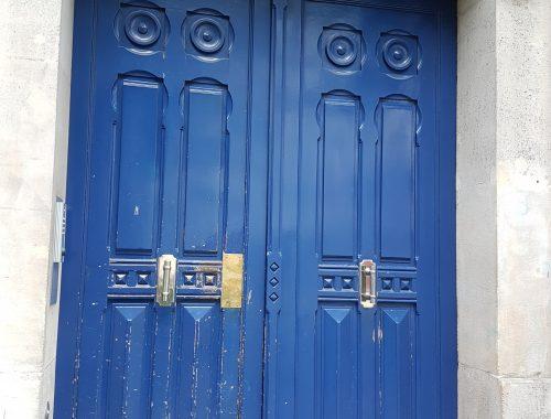 Paris, at last. My new front door.